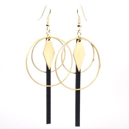 Boucles d'oreilles 2 cercles laiton + tige EPDM